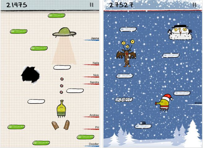 Doodle Jump hits 10M downloads, coming soon to iPad and Microsoft Kinect