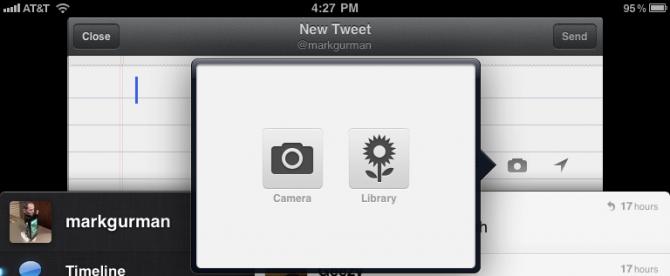 Twitter na iPadu 2