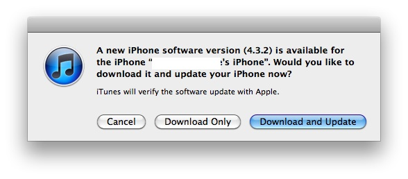 Apple vydal iOS 4.3.2