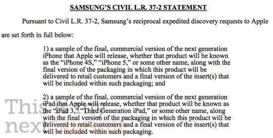 Samsung chce na oplátku vidět iPad 3 a iPhone 5(4S)
