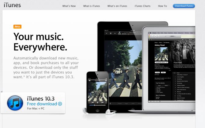 iTunes 10.3 jsou k dispozici