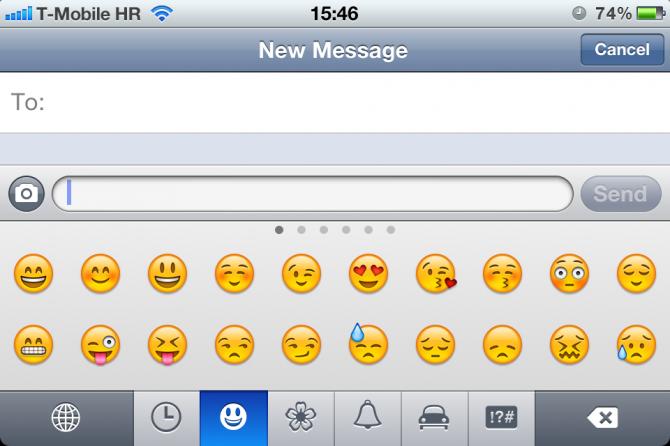 Jak na klávesnici s emotikonami od Applu na iOS